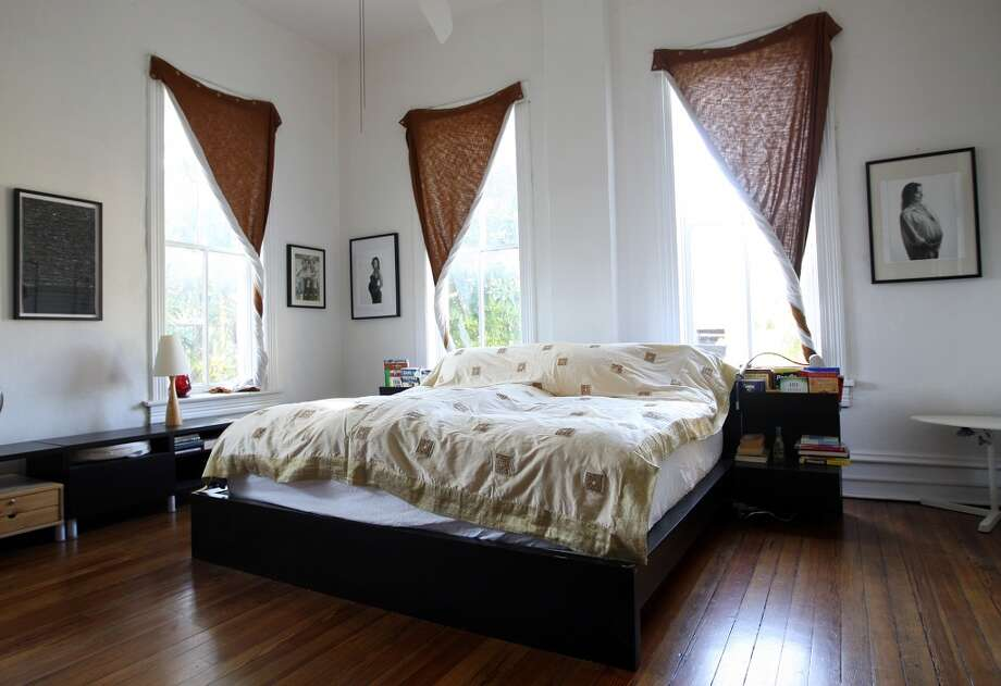 A view of the master bedroom at the Johanna and Ziad Sawalha house on Lavaca Street, Tuesday, Oct. 30, 2012. (San Antonio Express-News)