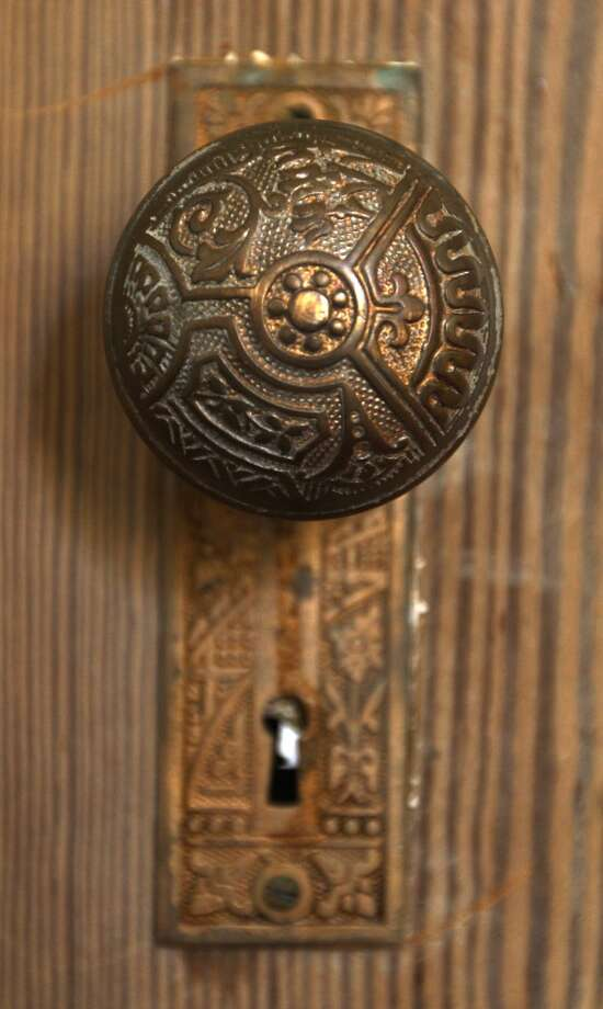 A detail from a door at the Johanna and Ziad Sawalha house on Lavaca Street, Tuesday, Oct. 30, 2012. (San Antonio Express-News)