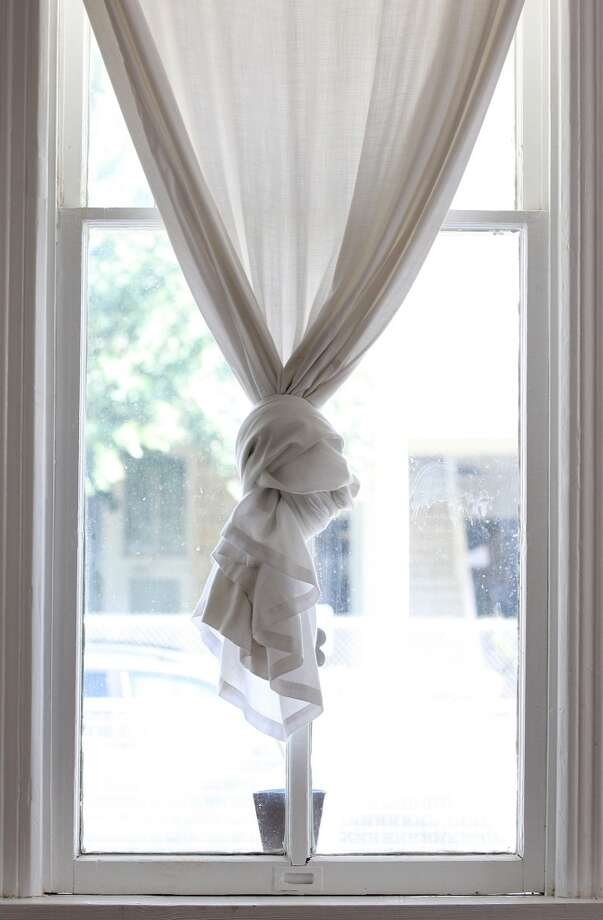 A detail of the window treatment at the Johanna and Ziad Sawalha house on Lavaca Street, Tuesday, Oct. 30, 2012. (San Antonio Express-News)