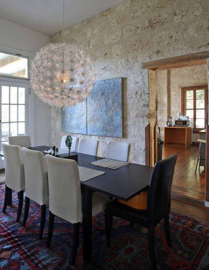 A view of the dining room at the Johanna and Ziad Sawalha house on Lavaca Street, Tuesday, Oct. 30, 2012. (San Antonio Express-News)