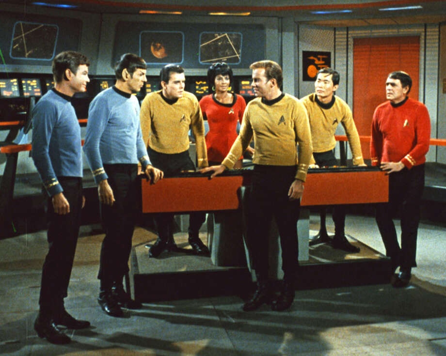 """Star Trek,"" with William Shatner, Leonard Nimoy and the rest of the USS Enterprise crew, appeared for just three seasons in the late '60s. But the show found its enormous cult following in syndication in the '70s.  Photo: / / PARAMOUNT PICTURES"