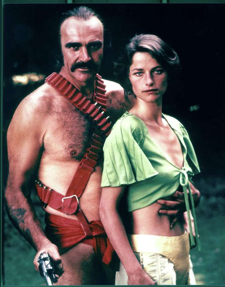 "Sean Connery is of course best known as James Bond in the '60s and the early '70s, with ""Diamonds are Forever."" But he went on to do ""The Man who would be King"" (1975) and ""Zardoz"" (1974), for which he wore this ridiculously awesome outfit. He's pictured with co-actor Charlotte Rampling.  Photo: 20th Century Fox, / / Getty Images North America"