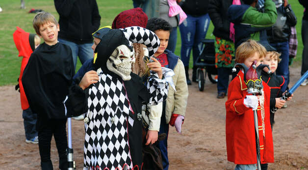 The Fourth Annual Black Rock Halloween Parade and Block Party was held at Ellsworth Field and at the Black Rock Branch Library in the Black Rock section of Bridgeport, Conn. on Friday November 2, 2012. The event was organized by the library and the Black Rock chapter of the Rotary Club. Photo: Christian Abraham / Connecticut Post