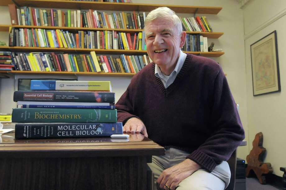Don Drew, the Ricketts professor of applied mathematics and a member of his church choir and board member of the Festival Celebration Choir, poses for a photograph in his office on the campus of RPI on Thursday, Nov. 1,  2012 in Troy, NY.  (Paul Buckowski / Times Union) Photo: Paul Buckowski