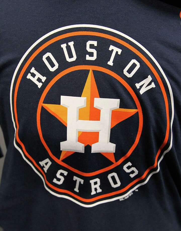The new Houston Astros logo on a t-shirt at Minute Maid Park, Friday, Nov. 2, 2012, in Houston, as the Houston Astros unveiled their new logo, uniform, and mascot. Photo: Karen Warren, Houston Chronicle / © 2012  Houston Chronicle