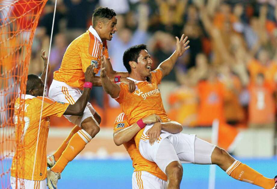 Brian Ching has been with the Dynamo since the team's inception and is the club's all-time scoring leader with 56 goals. Photo: Bob Levey, Stringer / 2012 Getty Images