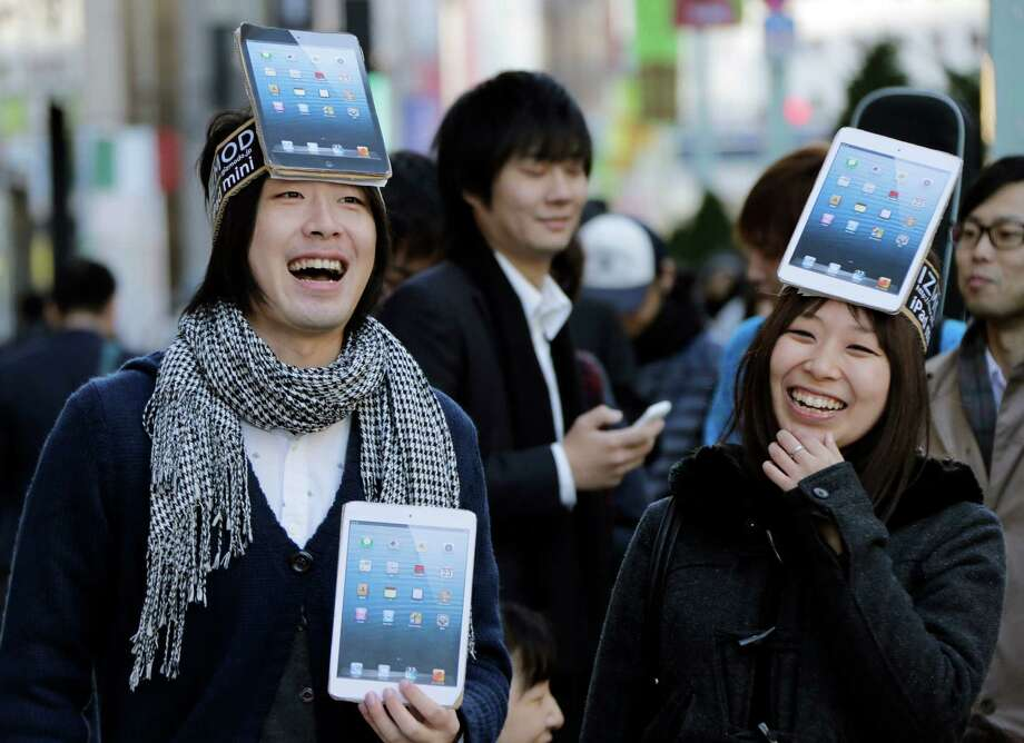 But fans lined up for it anyway. Photo: Koji Sasahara, Associated Press / AP