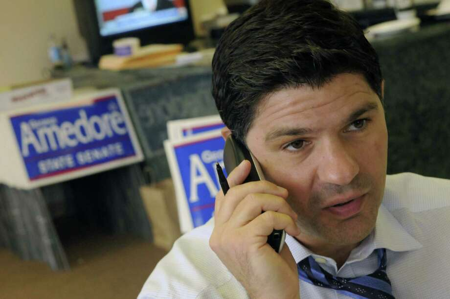 George Amedore Republican candidate for the new state Senate 46th district works his campaign in Rotterdam, NY Friday Oct. 26, 2012. (Michael P. Farrell/Times Union) Photo: Michael P. Farrell