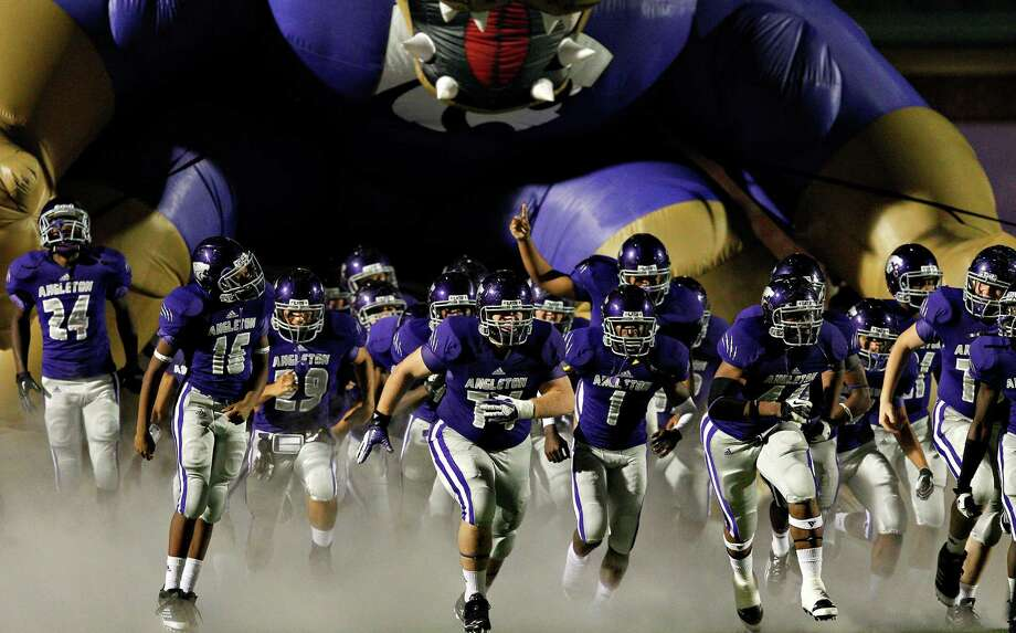 Angleton 57, Foster 21Angleton takes the field for the second half against Foster during 24-4A high school football playoffs between Foster and Angleton, Friday, November 2, 2012 in Angleton, Texas. Photo: Bob Levey, Houston Chronicle / ©2012 Bob Levey