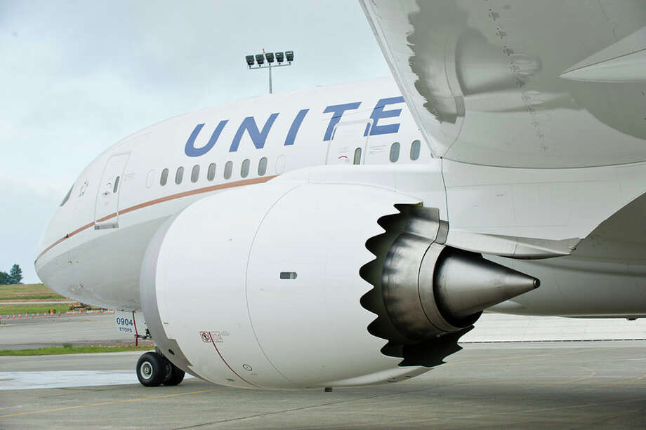 United's first Boeing 787 Dreamliner, like the aircraft shown in this handout photo from United Airlines, arrived in Houston in September.