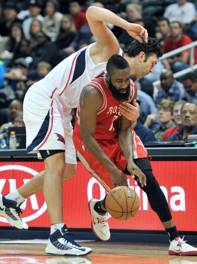 Against Atlanta, James Harden had one of the top performances of his career. (Hyosub Shin / Atlanta Journal-Constitution/MCT)