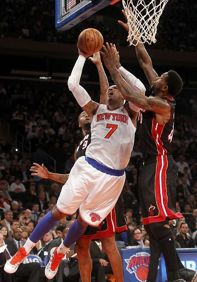 Carmelo Anthony had 30 points and 10 rebounds in the Knicks' victory. Photo: Jason Decrow, AP