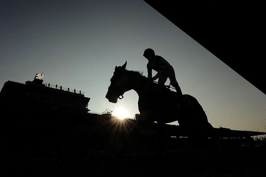 Mike Smith and Royal Delta cross the finish line to win the 2012 Breeders' Cup Ladies' Classic at Santa Anita Park on November 2, 2012 in Arcadia, California. Photo: Harry How, Getty Images