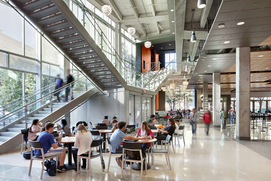 University of Texas at Austin Student Activity Center: Recipient of the 2012 Citation Award. Austin. Owner: The University of Texas at Austin. Architect: Overland Partners Architects. Contractor: SpawGlass. Consultants: Davcar Engineering – Civil, HMG & Associates – MEP, Datum Gojer Engineers – Structural, Studio 8 Architects – Interior Design, Bender Wells Clark Design – Landscape Architects. Photographer: Jeffrey Totaro. Photo: Chris Cooper, Courtesy Photo / © 2010 Chris Cooper all rights reserved