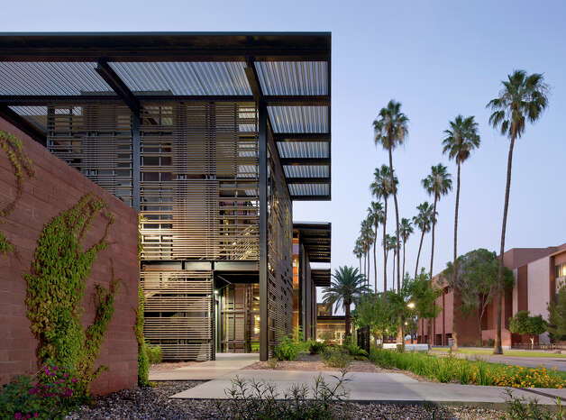 Health Services Building, Arizona State University: Recipient of the 2012 Merit Award. Tempe, Ariz. Client: Arizona State University. Architect: Lake|Flato Architects. Contractor: Oklund Construction. Consultants: Littlejohn Engineering – Civil, Van Borerum & Frank Assoc. – MEP, Caruso Turley Scott – Structural. Photographer: Bill Timmerman. Photo: Courtesy Photo