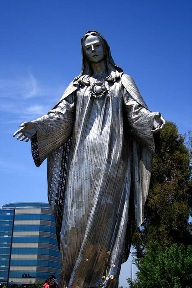 DELAWARE: It would be hard to pass this 34-foot steel Virgin Mary at a Roman Catholic church in New Castle without stopping for a photo. Ardall Smith/Flickr Creative Commons