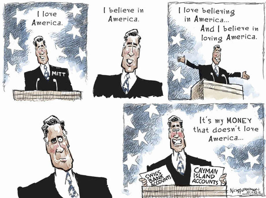 Aug. 28, 2012: Mitt's loyalties ... Photo: Nick Anderson