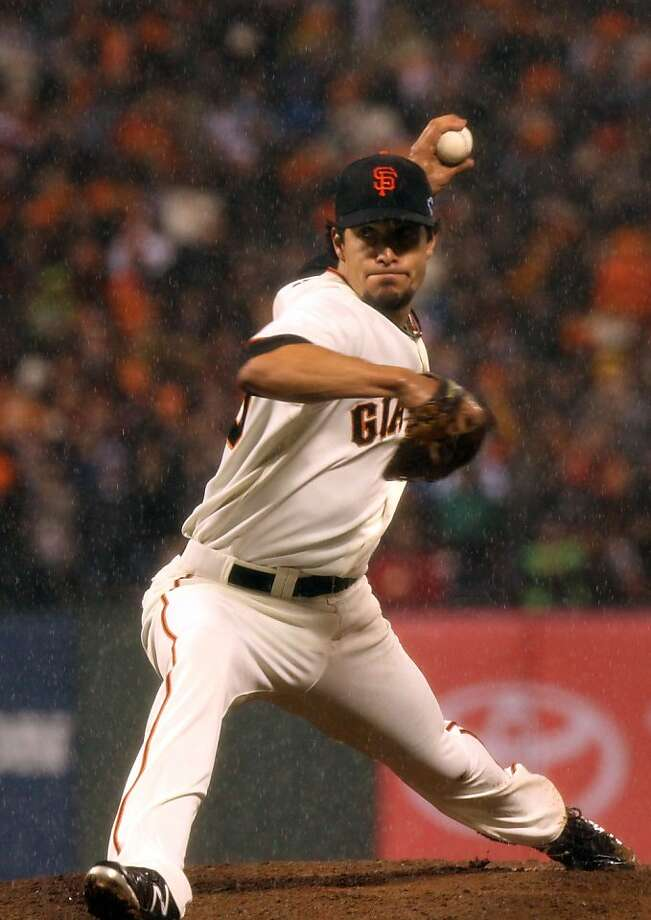 Javier Lopez, 37, says his role doesn't stress his body, so he'll be a good investment. Photo: Lance Iversen, The Chronicle
