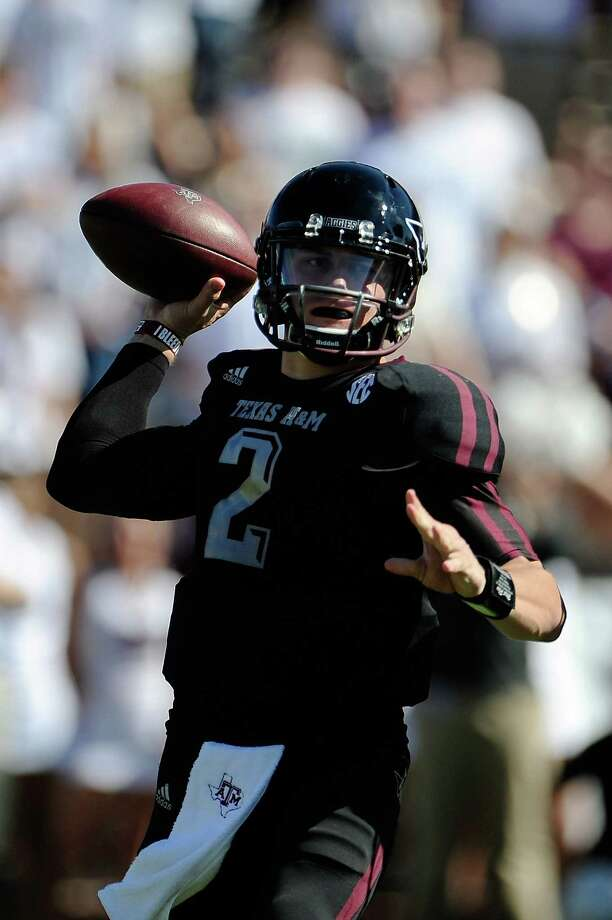 No. 16 A&M 38, No. 15 Mississippi State 13  Nov. 3, 2012Manziel continued making his  case as a Heisman Trophy candidate with 440 total yards — or 110 more than the  entire Mississippi State squad. Manziel rushed for a game-high 129 yards and  completed 30 of 36 passes for 311 yards in Starkville. The Aggies piled up 693  yards of offense, their school-record eighth straight game with at least 400  yards.  Photo: Stacy Revere, Getty Images / 2012 Getty Images