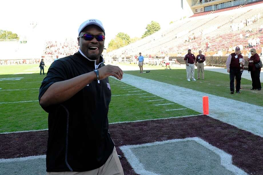 Head coach Kevin Sumlin of the Texas A&M Aggies leaves the field following a game against the Mississippi State Bulldogs at Wade Davis Stadium on November 3, 2012 in Starkville, Mississippi.  (Stacy Revere / Getty Images)