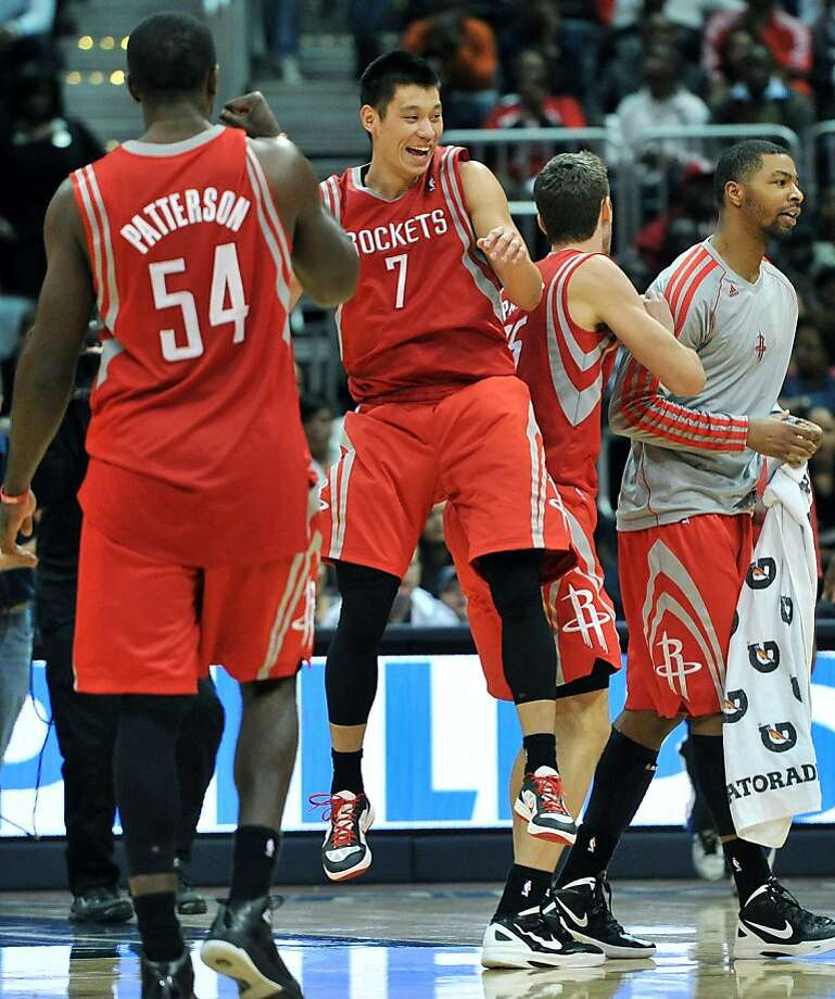 Jeremy Lin (7) and the Rockets have a lot more options with James Harden added to their lineup. Lin had 21 points and 10 rebounds Friday at Atlanta. Photo: Hyosub Shin, McClatchy-Tribune News Service