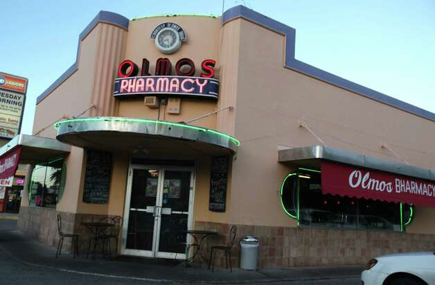 Olmos Bharmacy, the 1938 Art Moderne pharmacy converted into a bar.  Thursday, Nov. 1, 2012. Read More Photo: Bob Owen, San Antonio Express-News / © 2012 San Antonio Express-News