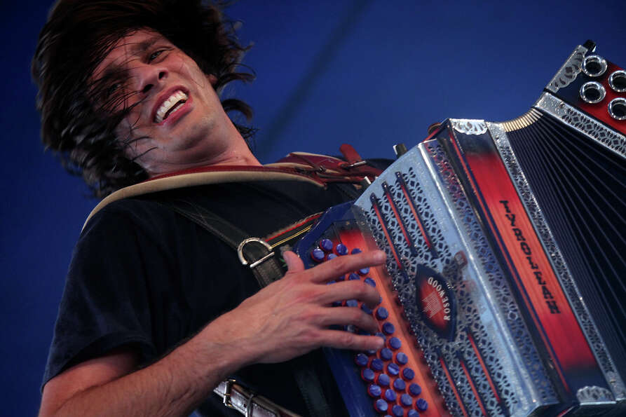 Alex Meixner, with the Alex Meixner Band, entertains the crowd during Wurstfest in New Braunfels on