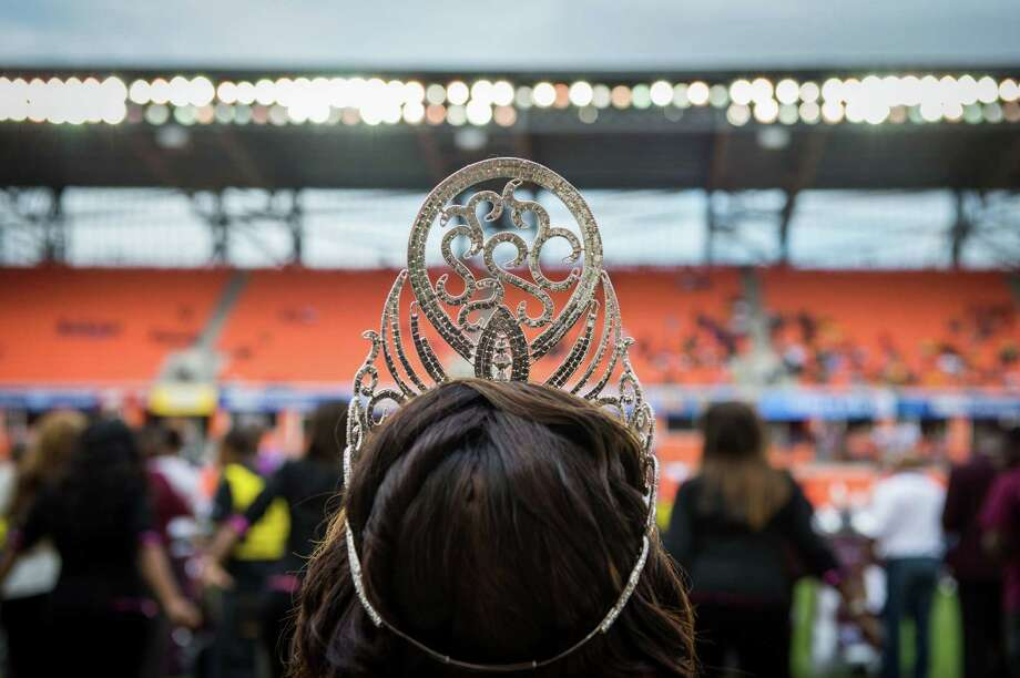 Members of the Texas Southern homecoming court watch the halftime show during a college football game against Arkansas-Pine Bluff at BBVA Compass Stadium, Saturday, Nov. 3, 2012, in Houston. Photo: Smiley N. Pool, Houston Chronicle / © 2012  Houston Chronicle
