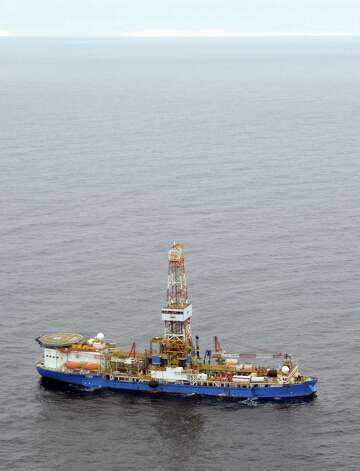 The drillship Noble Discoverer is boring a well in the Chukchi Sea north of Alaska. (Photo: Jennifer A. Dlouhy / The Houston Chronicle) Photo: Jennifer A. Dlouhy / The Houston Chronicle