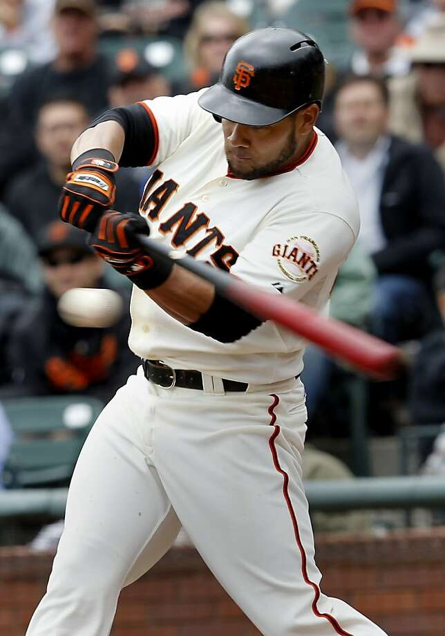 Former Giants outfielder Melky Cabrera was among a half-dozen players listed in the records of a Florida  clinic that sold performance-enhancing drugs, according to a report by  an alternative weekly newspaper in Miami. Photo: Brant Ward, The Chronicle