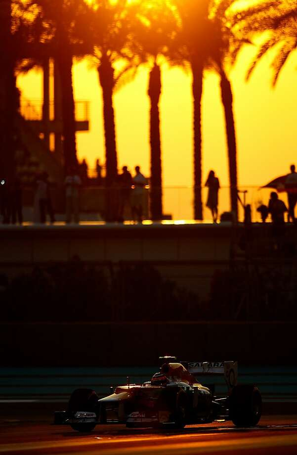 Nico Hulkenberg of Germany and Force India drives during qualifying for the Abu Dhabi Formula One Grand Prix at the Yas Marina Circuit on November 3, 2012 in Abu Dhabi, United Arab Emirates. Photo: Vladimir Rys, Getty Images