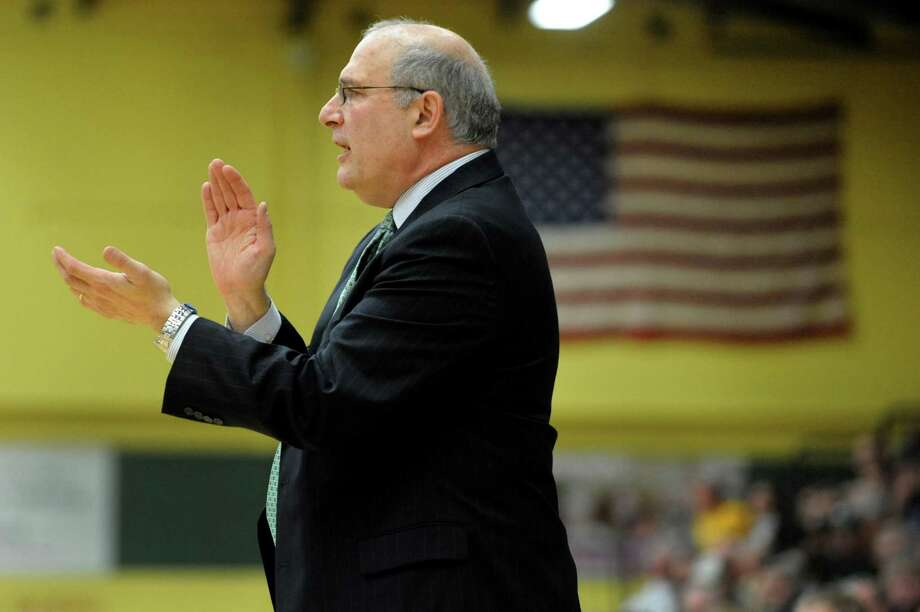 Siena coach Mitch Buonaguro encourages his team during their exhibition basketball game against Skidmore on Saturday, Nov. 3, 2012, at Siena College in Loudenville, N.Y. (Cindy Schultz / Times Union) Photo: Cindy Schultz / 00019935A