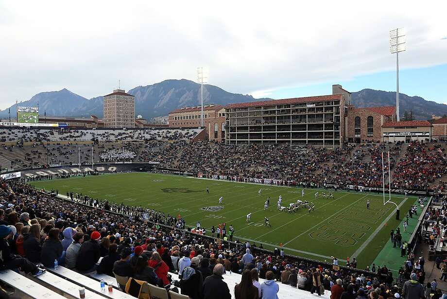 BOULDER, CO - NOVEMBER 03:  General view of the stadium as the Stanford Cardinal defeated the Colorado Buffaloes 48-0 at Folsom Field on November 3, 2012 in Boulder, Colorado.  (Photo by Doug Pensinger/Getty Images) Photo: Doug Pensinger, Getty Images