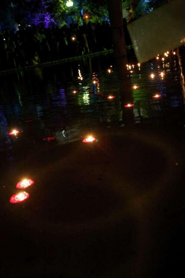 Revelers celebrate at San Antonio's Diwali Festival of Lights Saturday, Nov. 3, 2012, at HemisFair Park. Photo: Xelina Flores-Chasnoff, For MySA.com