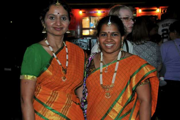 Revelers celebrate at San Antonio's Diwali Festival of Lights Saturday, Nov. 3, 2012, at HemisFair Park. Photo: Xelina Flores-Chasnoff,  For MySA.com