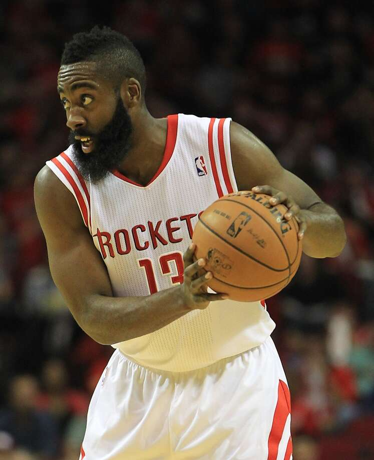 Rockets guard James Harden led the team in points for the third consecutive game. (Karen Warren / Houston Chronicle)