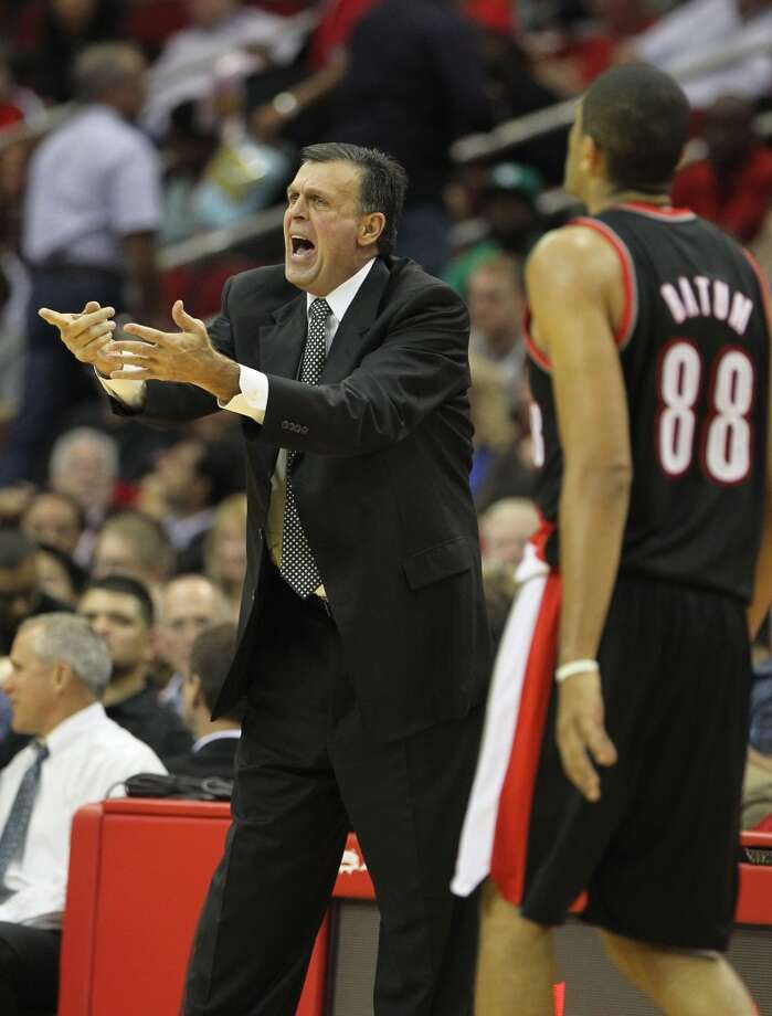 The Rockets gave coach Kevin McHale reason to yell against the Trail Blazers. (Karen Warren / Houston Chronicle)