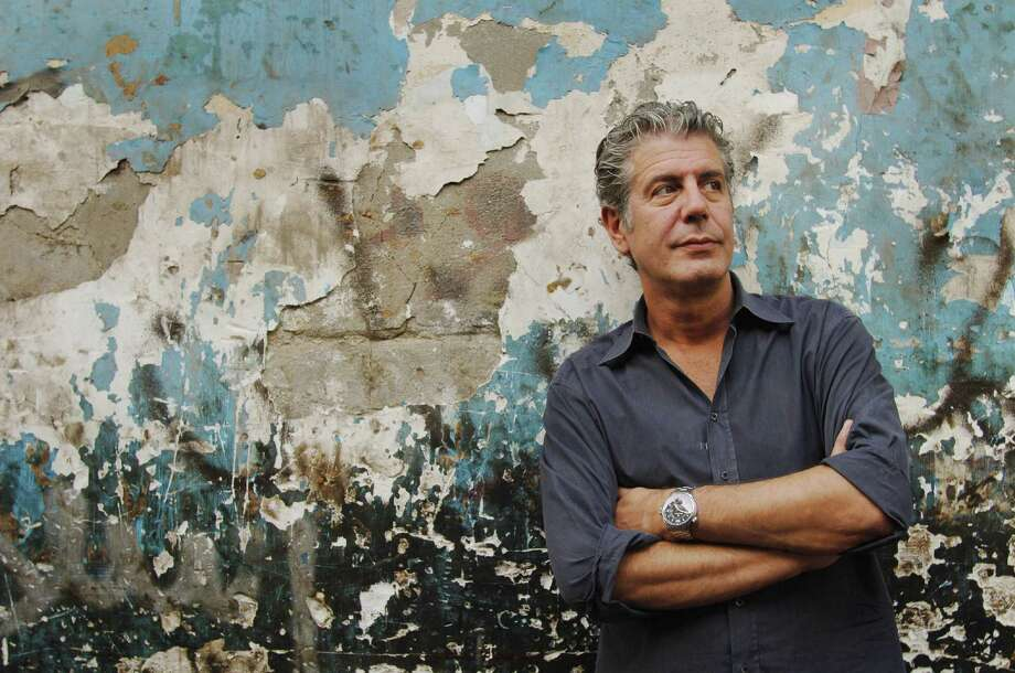 Anthony Bourdain, above, along with chef Eric Ripert, will reflect on a variety of food-centric topics Saturday at Jones Hall. Photo: Brendan Corr / Getty Images / DirectToArchive