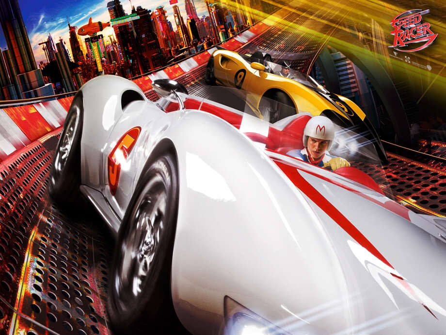 """Speed Racer: The Mach 5 car is one of the most iconic cars worldwide. The car was originally depicted in Japanese comics as a white sports car with an """"M"""" on its hood. Hollywood made a few adaptations to it to make it a sleeker sports car. A prototype was purchased for $180,000 by a Los Angeles auto museum in 2000. / handout email"""