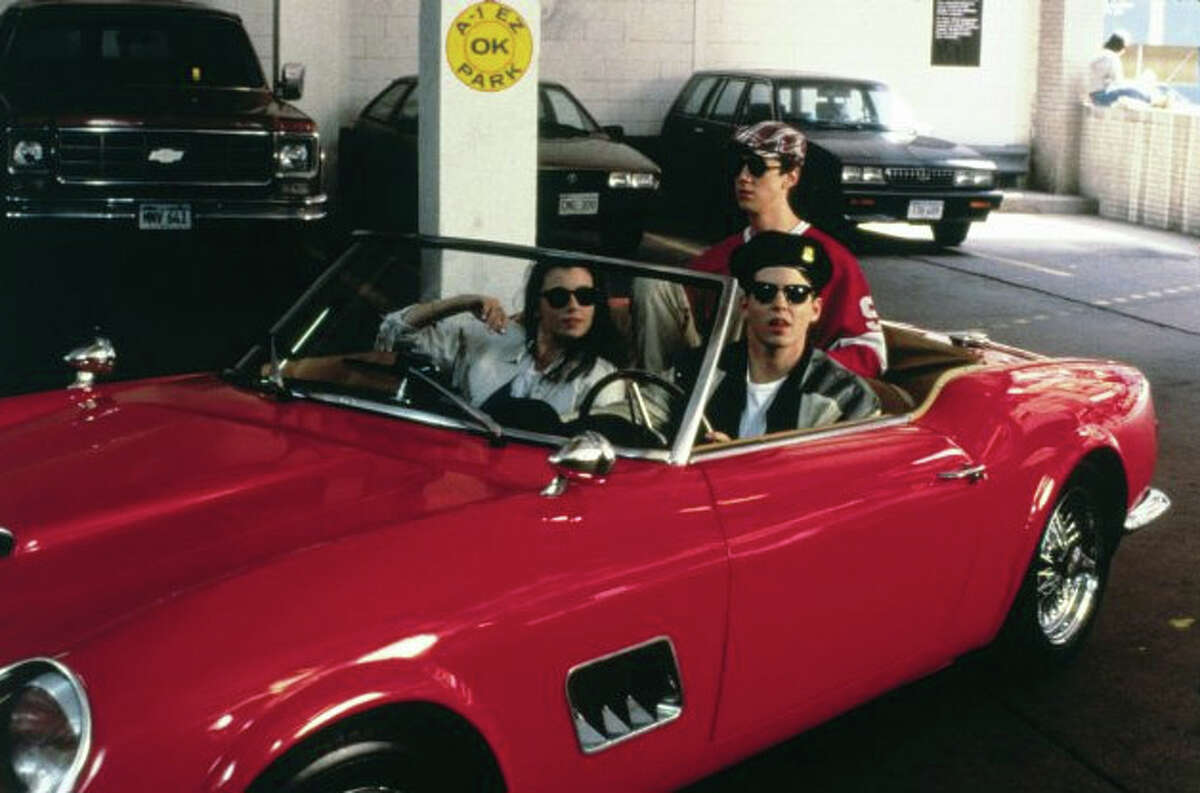 Ferris Bueller's Day Off: Matthew Broderick and friends drove around in a 1961 Ferrari 250 GT California Spyder in Ferris Bueller's Day Off, and the sports car became an integral part of the movie's plot. The car, however, met its demise after it crashed through a window and into a wooded area.
