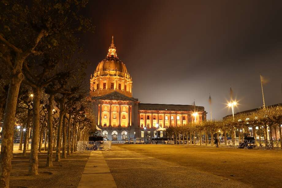 On October 29, 2012 in San Francisco, Calif. City Hall  is illuminated orange after the Giants won the World Series on October 28th. Photo: Rashad Sisemore, The Chronicle / ONLINE_YES