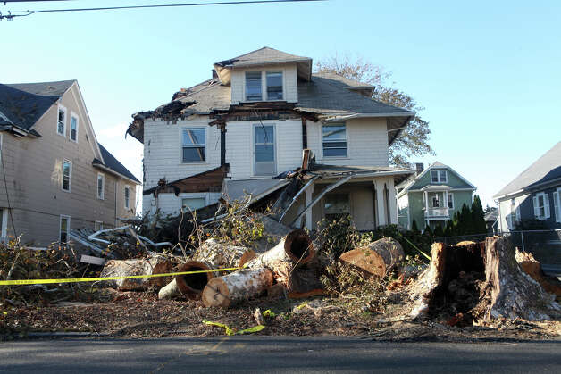 A home on Grovers Ave. sustained damage during storm Sandy on in Bridgeport, Conn. on Sunday, November 4, 2012. Photo: BK Angeletti, B.K. Angeletti / Connecticut Post freelance B.K. Angeletti