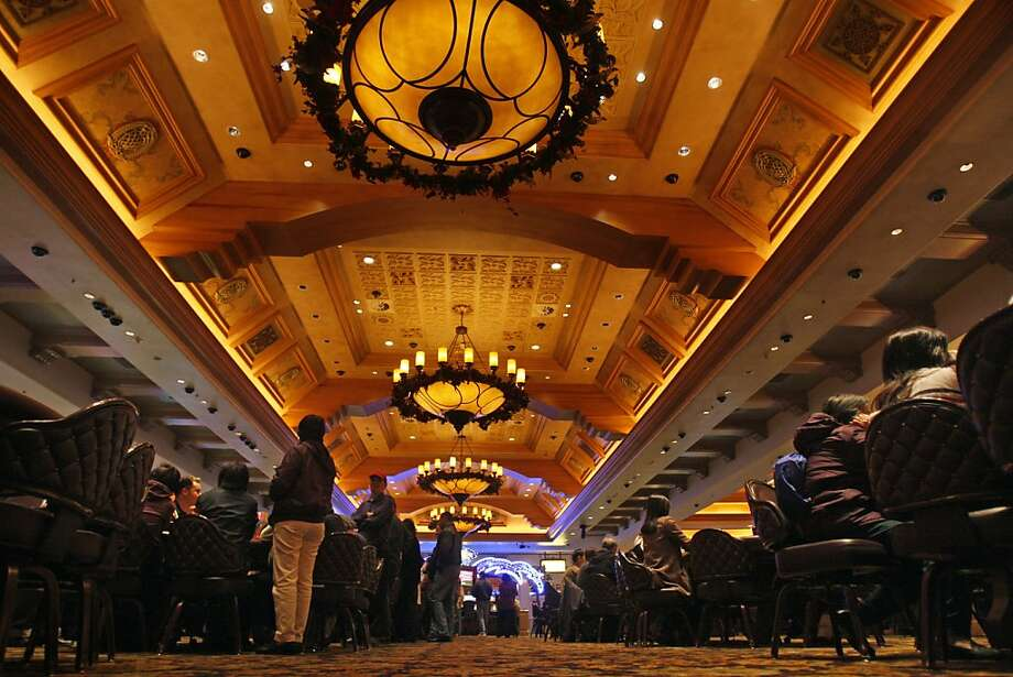 Gambers wait for openings at 21 tables in the main casino area at Thunder Valley Casino, east of Sacramento. Photo: Lance Iversen, SFC