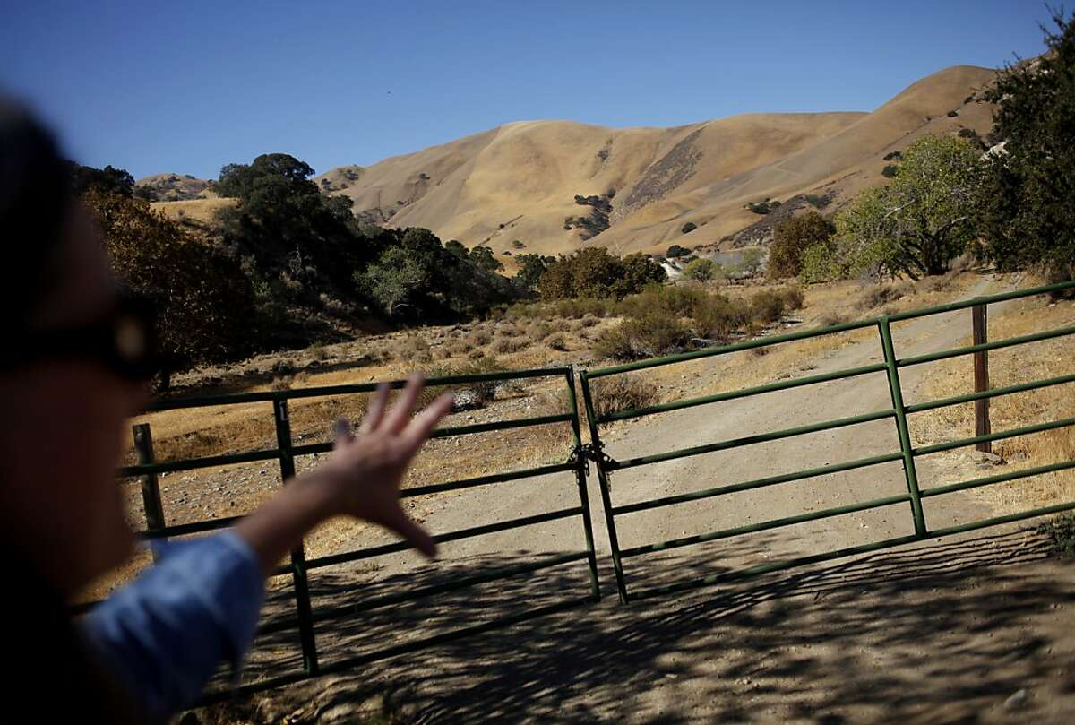 A gate keeps the public off the land that the state plans to use for an off road vehicle park in Livermore, Calif., Thursday, October 18, 2012. Friends of Tesla Park is hoping the land will be preserved instead.
