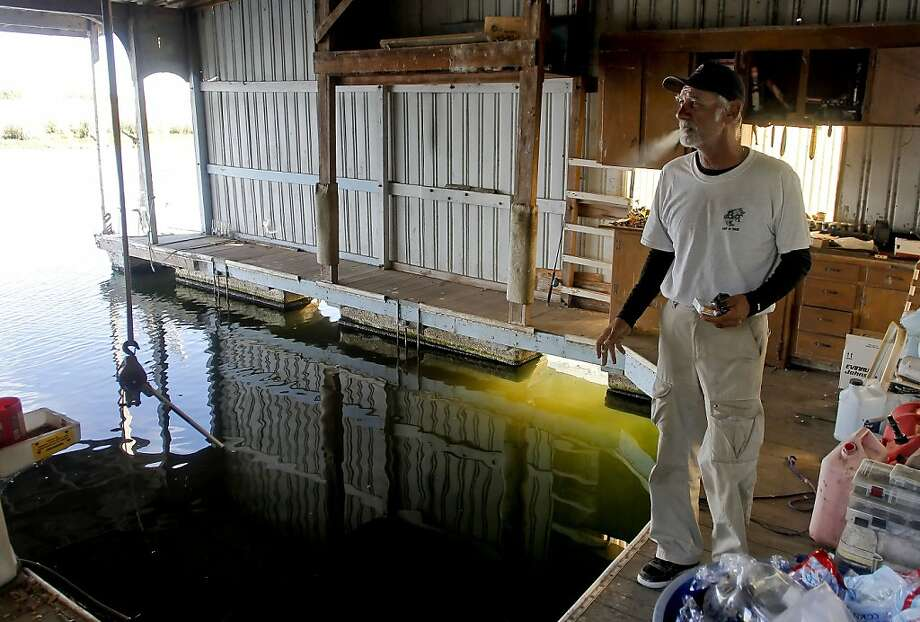 "Fishing excursion guide Andy ""Cooch"" Cuccia is one of six owners whose boats have been stolen around the Bethel Island area in recent weeks. His boat, worth an estimated $50,000, was found stripped and gutted. Photo: Michael Macor, The Chronicle"