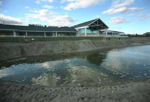 The beach is eroded away in front of the Penfield Pavilion in the aftermath of Hurricane Sandy at Penfield Beach in Fairfield on Sunday, November 4, 2012. Photo: Brian A. Pounds / Connecticut Post