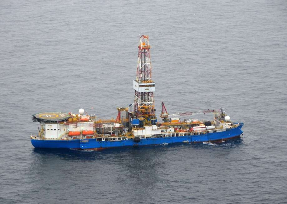 The drillship Noble Discoverer is boring a well in the Chukchi Sea north of Alaska. (Photo: Jennifer A. Dlouhy / The Houston Chronicle) (Houston Chronicle)