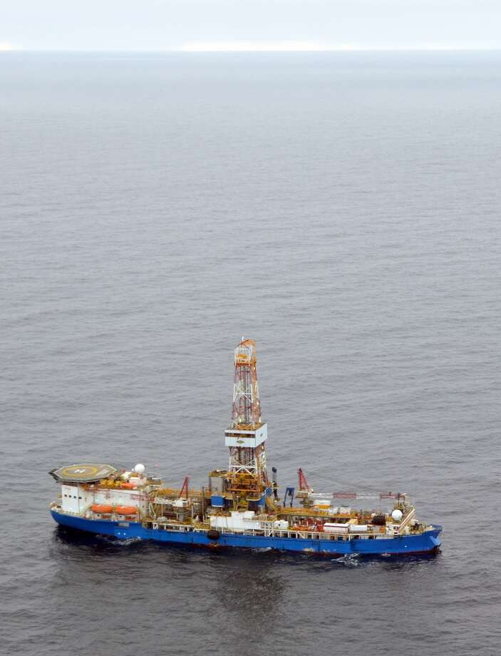 The drillship Noble Discoverer is boring a well in the Chukchi Sea north of Alaska. (Photo: Jennifer A. Dlouhy / The Houston Chronicle) (The Houston Chronicle)
