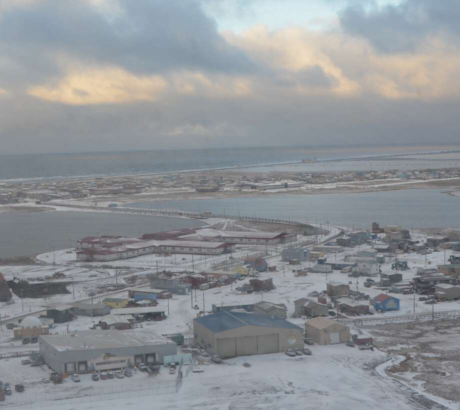 FOR FUTURE STORY. DO NOT USE.  JCK  An aerial view of Barrow, Alaska. With a relatively small footprint of about 22 square miles, the city is home to just over 4,000 residents. (Photo: Jennifer A. Dlouhy / The Houston Chronicle) (Houston Chronicle)
