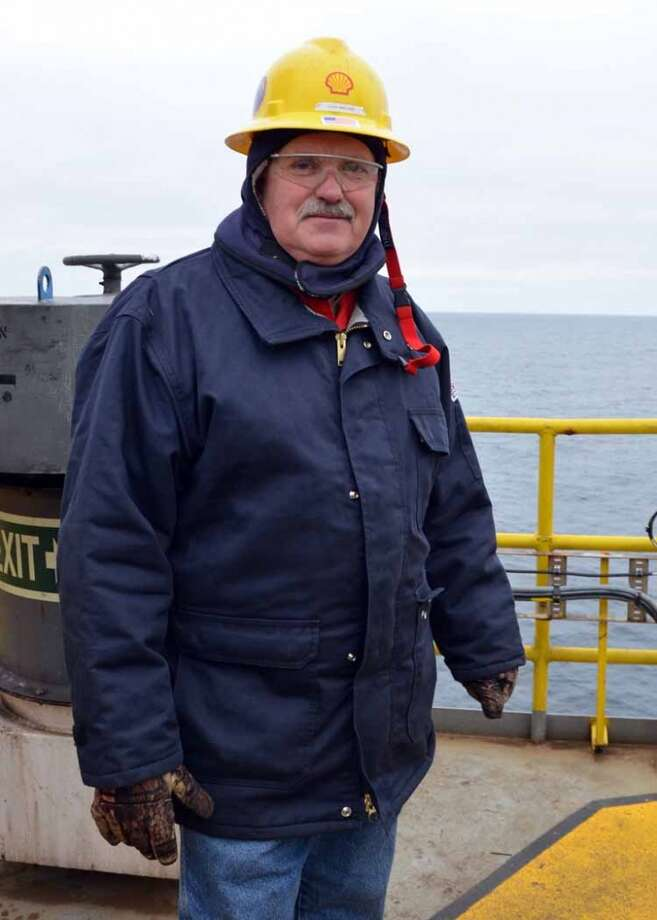 """Senior Drilling Supervisor Loyd Wallace was overseeing work on the Noble Discoverer when it drilled the first foot of Shell's latest Chukchi Sea well -- the first of its kind in more than two decades. Wallace said it felt like Christmas. """"Everybody was excited,"""" Wallace said. """"Everybody was taking pictures.""""  (Photo: Jennifer A. Dlouhy / The Houston Chronicle) (Jennifer A. Dlouhy)"""